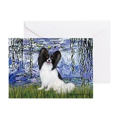 Lilies (#6) & Papillon Greeting Card
