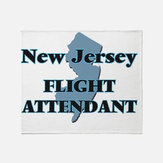 New Jersey Flight Attendant Throw Blanket