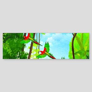 Flying Parrots Macaw Bird Sticker (Bumper)