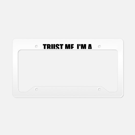 Trust Me, I'm A Sales Manager License Plate Holder