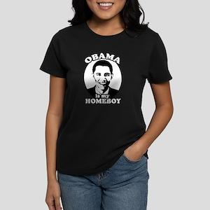 Obama is my homeboy Women's Dark T-Shirt