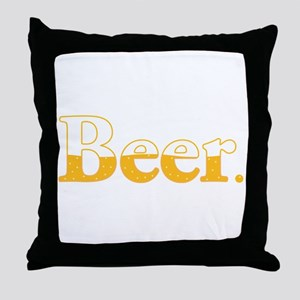 Beer. Throw Pillow