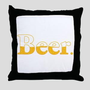 Beer. Throw Pillow