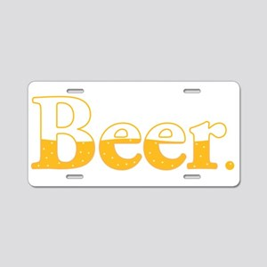 Beer. Aluminum License Plate
