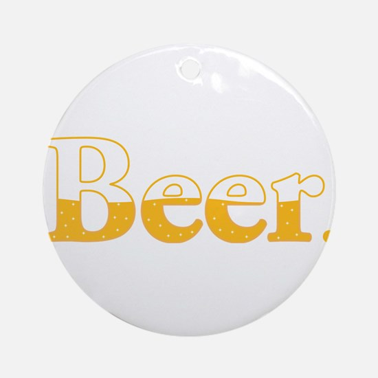 Beer. Round Ornament