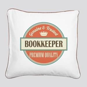 bookkeeper vintage logo Square Canvas Pillow