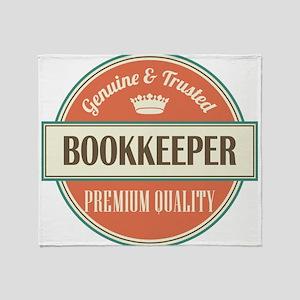 bookkeeper vintage logo Throw Blanket