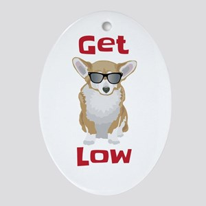 Get Low With Corgis Oval Ornament