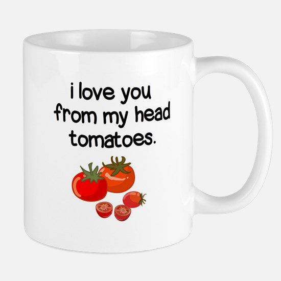 Love You from My Head to My Toes Mugs