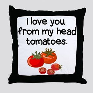 Love You from My Head to My Toes Throw Pillow