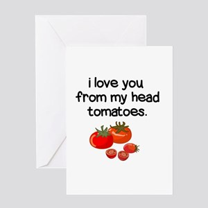 Love You from My Head to My Toes Greeting Cards