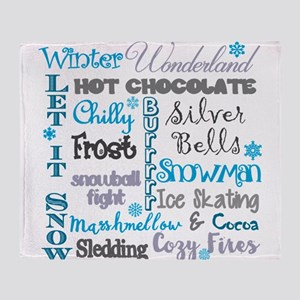 Winter Subway Art Throw Blanket