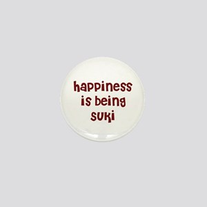 happiness is being Suki Mini Button