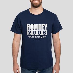 Romney 2008: Vote for Mitt Dark T-Shirt