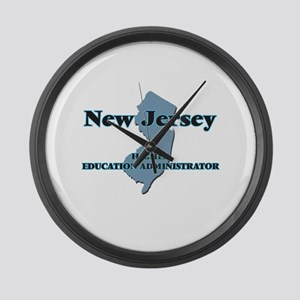 New Jersey Higher Education Admin Large Wall Clock