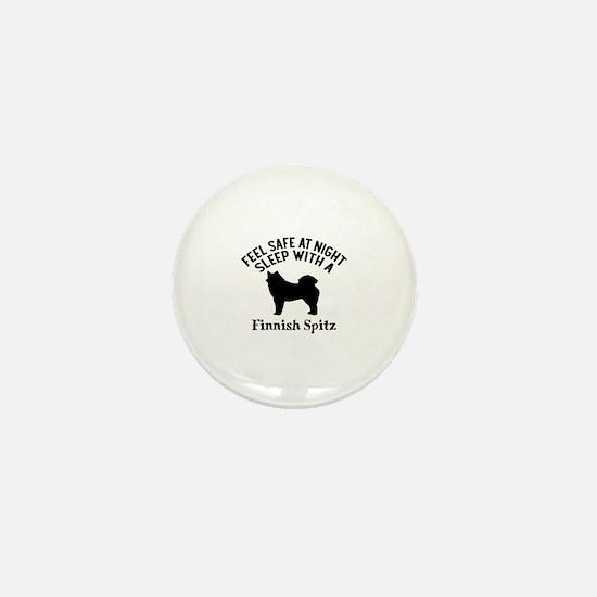 Sleep With Finnish Spitz Dog Designs Mini Button