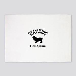 Sleep With Field Spaniel Dog Design 5'x7'Area Rug