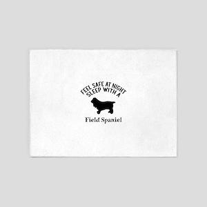 Sleep With Field Spaniel Dog Design 5'x7'Area Rug