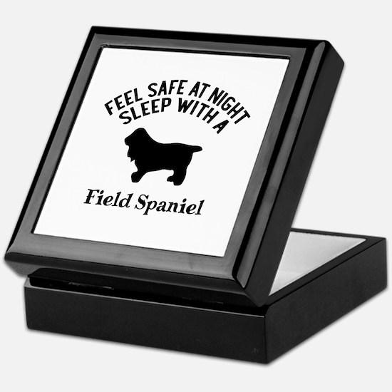 Sleep With Field Spaniel Dog Designs Keepsake Box