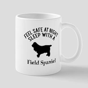 Sleep With Field Spaniel Dog Des 11 oz Ceramic Mug