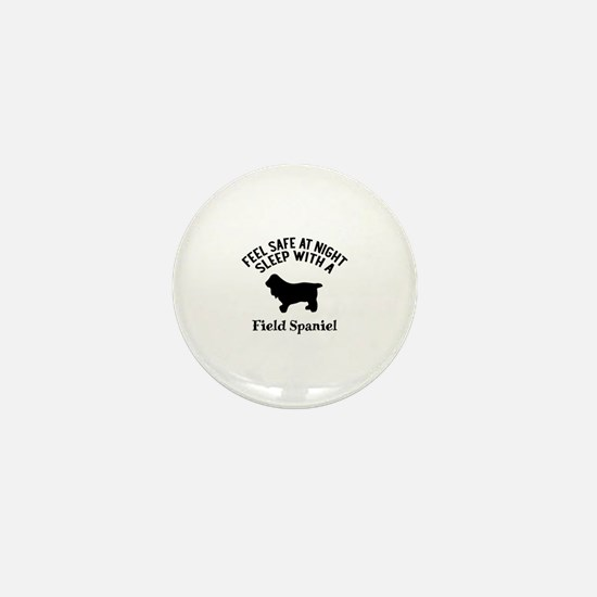 Sleep With Field Spaniel Dog Designs Mini Button