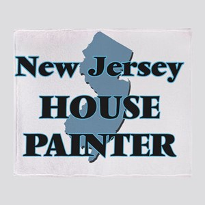 New Jersey House Painter Throw Blanket