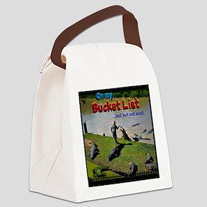 Bucket List Canvas Lunch Bag