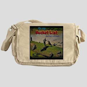 Bucket List Messenger Bag