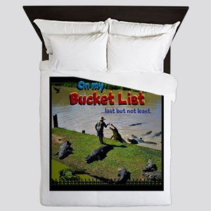 Bucket List Queen Duvet