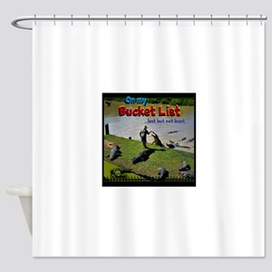 Bucket List Shower Curtain