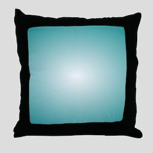 Blue Radial Gradient 120x90 Throw Pillow