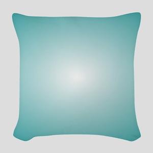 Blue Radial Gradient 120x90 Woven Throw Pillow