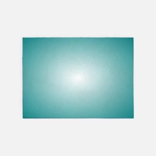 Blue Radial Gradient 120x90 5'x7'Area Rug