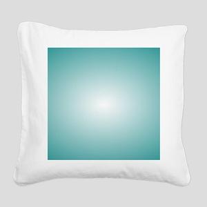 Blue Radial Gradient 120x90 Square Canvas Pillow