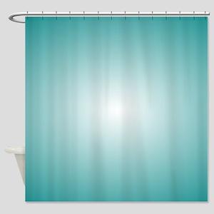 Blue Radial Gradient 120x90 Shower Curtain