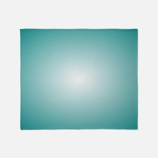 Blue Radial Gradient 120x90 Throw Blanket