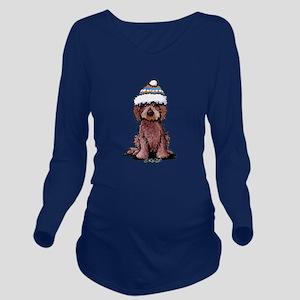 Winter Chocolate Long Sleeve Maternity T-Shirt