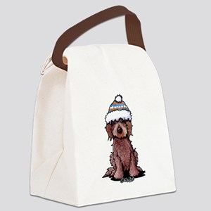 Winter Chocolate Canvas Lunch Bag
