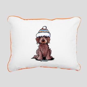 Winter Chocolate Rectangular Canvas Pillow