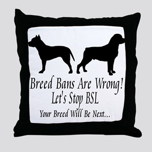 Stop BSL Throw Pillow