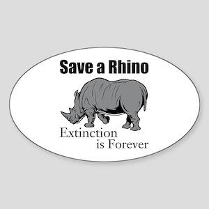 Save A Rhino Sticker