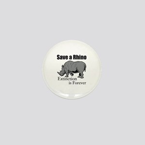 Save A Rhino Mini Button