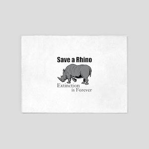 Save A Rhino 5'x7'Area Rug