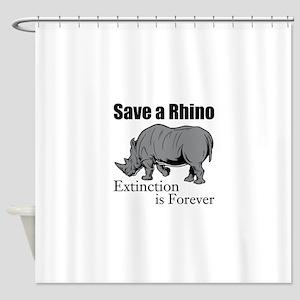 Save A Rhino Shower Curtain