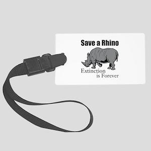 Save A Rhino Luggage Tag