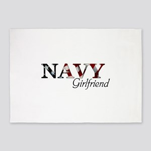 Girlfriend Navy_flag  5'x7'Area Rug