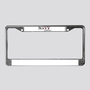 Girlfriend Navy_flag  License Plate Frame