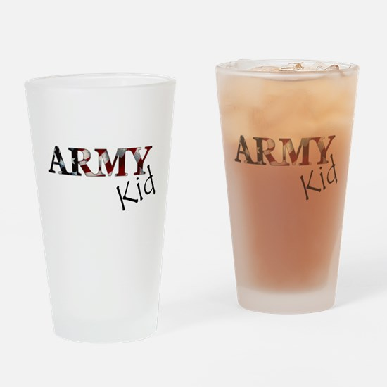 kid Army_flag .png Drinking Glass