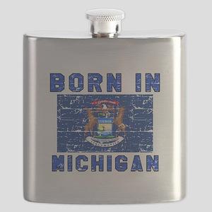 Born in Michigan Flask