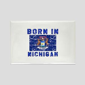 Born in Michigan Rectangle Magnet